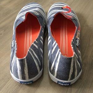 30d0129c0f90 keds Shoes - Keds Flamingo Blue and White Slip Ons Size 9