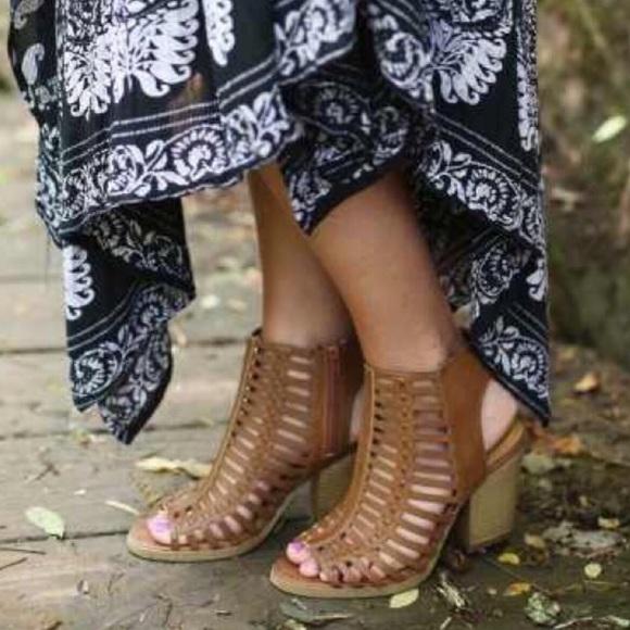 d53415daa8c Caged Bootie Sandals
