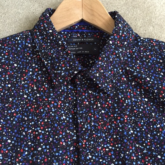 44% off Denim & Flower Other - Denim & Flower Dress Shirt Size ...