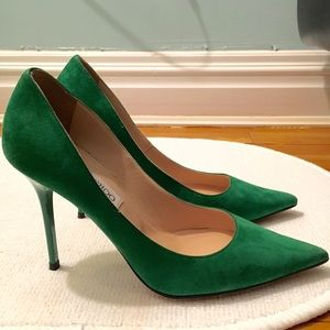 c7ebee30e Jimmy Choo Shoes - Jimmy Choo Emerald Green Suede