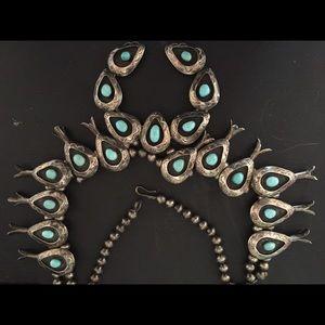 SALE! Vintage Squash Blossom Necklace