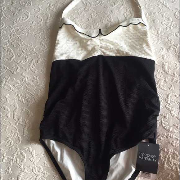 5d29323c1d1c6 Topshop Swim | Maternity Scalloped Suit Size 6 | Poshmark