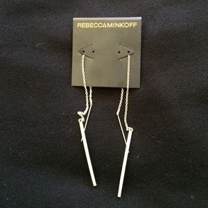 New Rebecca Minkoff Silver Pave Earrings