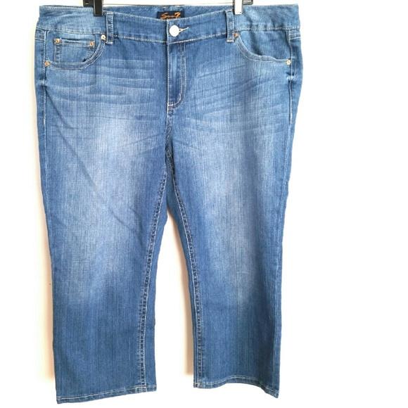 67% off Seven7 Denim - Seven7 Luxe Plus Size 22 Denim Capri/Crop ...