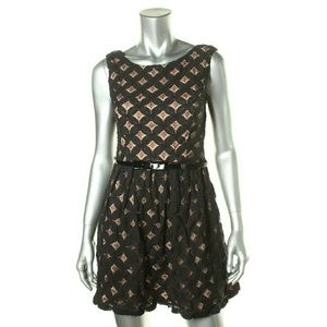 City Studio Dresses & Skirts - City Studio  Crochet Lined Dress with belt
