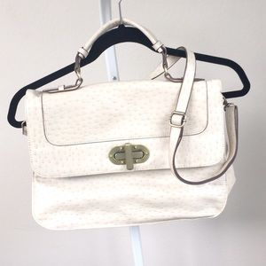 Handbags - NEW faux ostrich leather messenger bag from Target