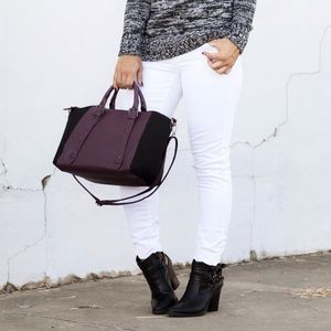 Mossimo Supply Co. Handbags - New Purple & Black Leather & Suede Bag