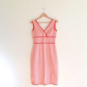 Vintage 70s Orange Gingham Day Dress