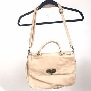 Handbags - NEW faux leather messenger bag in color tan