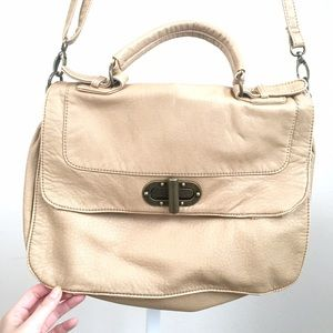 Bags - NEW faux leather messenger bag in color tan