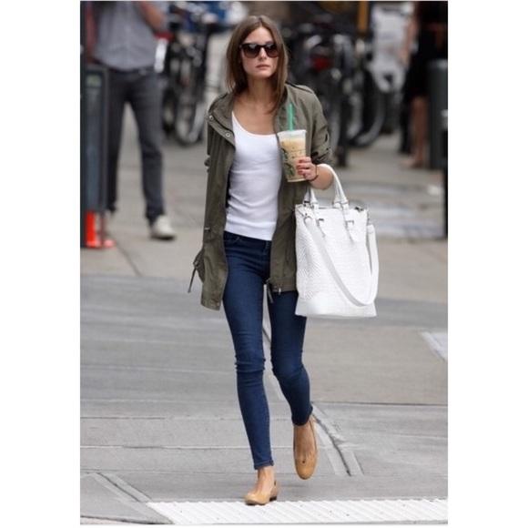51% off Zara Jackets & Blazers - ZARA lightweight military green ...