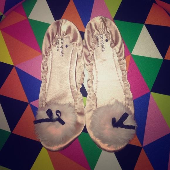 152964469 kate spade Shoes - kate spade NY camden velvet Pom Pom slipper