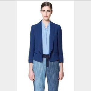 ZARA cobalt blue blazer