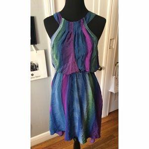 PRESLEY SKYE 100% Silk Dress Muliti-colored