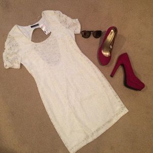 Foreign Exchange Dresses & Skirts - White Lace Mini Dress
