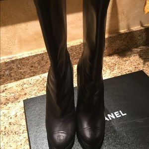 Authentic Chanel Leather Boots with original box
