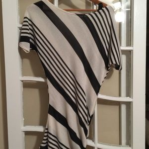 Black and white sweater dress or top