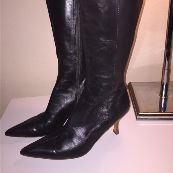 93 charles david shoes slate grey knee high boots