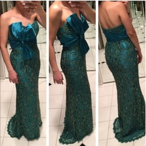 Royal Queen Dresses & Skirts - Teal lace dress