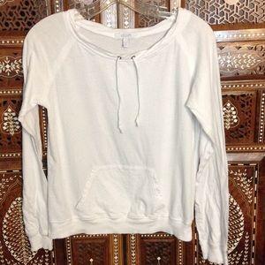 Delia's Tops - Beachy pullover with kangaroo pocket