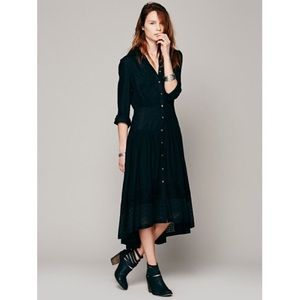Free People Dresses & Skirts - Reserved ❤️ Free People Black Eyelet Maxi Dress
