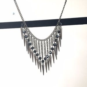 ASOS Jewelry - NEW ASOS pewter spike statement necklace