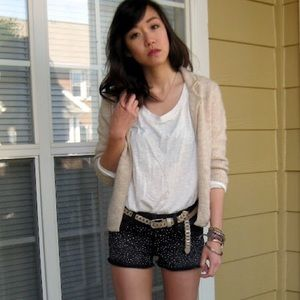 NEW Forever21 washed black denim shorts