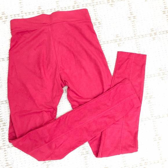 H&M Pants - LikeNEW H&M suede like red leggings