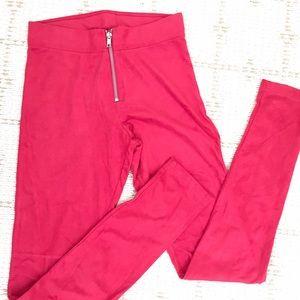 LikeNEW H&M suede like red leggings