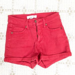NEW Forever21 red high waist denim hot pants