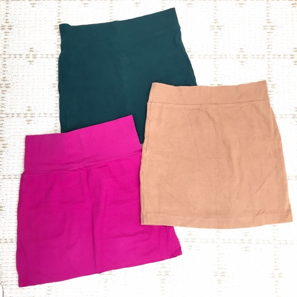 American Apparel Skirts - Like NEW set of three knitted body-cone skirts