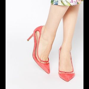 ASOS Shoes - Chic Pink Pointed Suede Heels