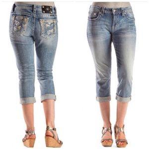 Miss Me Jeans - Sparkling Boyfriend Fit Miss Me Capri