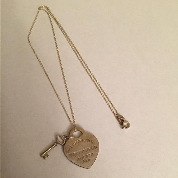 Tiffany Co Jewelry Return To Tiffany Heart Tag With Key Pendant Poshmark