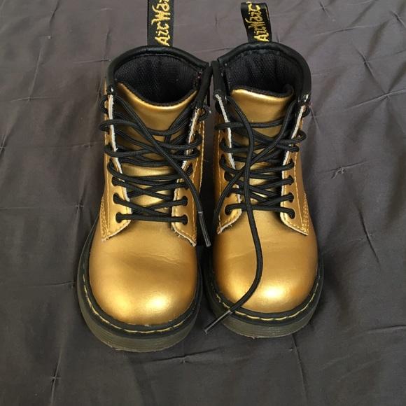 79bf8de3027b Dr. Martens Shoes   Dr Martens Toddler Boot Brooklee In Gold   Poshmark
