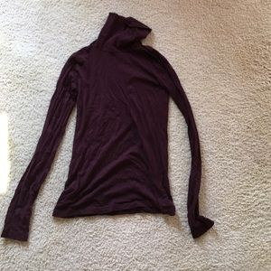 J Crew jcrew Eggplant Purple Turtleneck XS Cotton