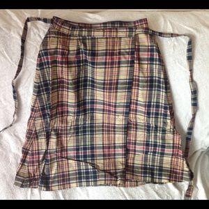 Vintage 1960s plaid wrap skirt.  Very unique!