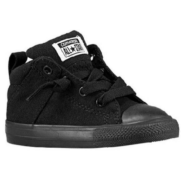 boys black high top converse