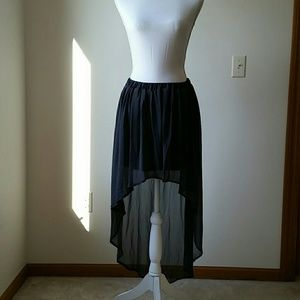 EUC Zara Grey High Low Chiffon skirt