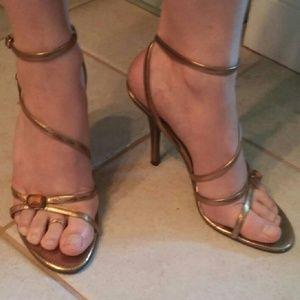 Metaphor Shoes - Metaphor brand snakeskin print heels
