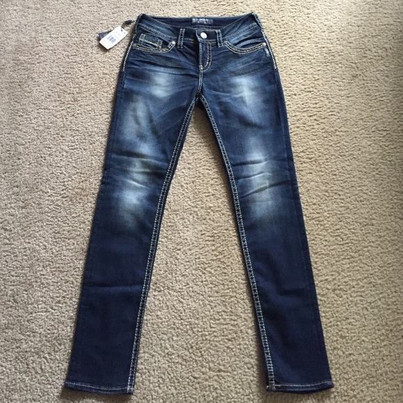 73% off Silver Jeans Denim - NWT! Silver Suki Skinny Jeans from ...