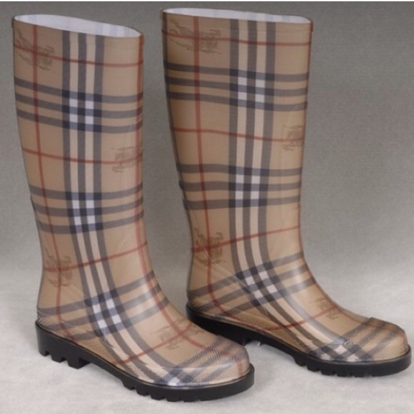 e890578ee2ef3 Burberry Shoes | Nova Check Rain Boots | Poshmark