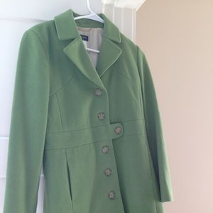Green jcrew dress coat
