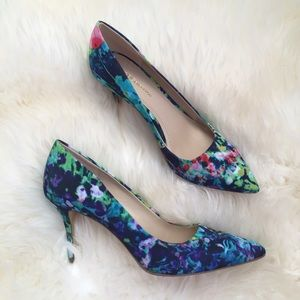 BCBGeneration Watercolor Floral Pointed Pump