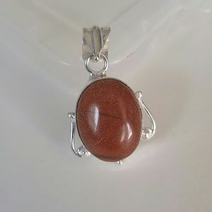 Jewelry - Goldstone (Sunstone) Pendant
