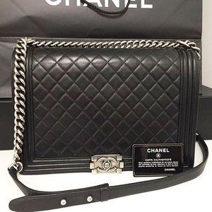 2e2b4bf6397e Women's Chanel Boy Bag Large Size on Poshmark