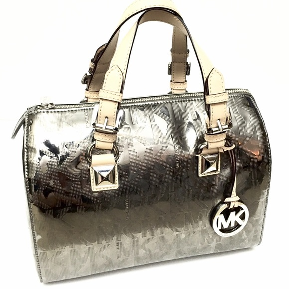 5062dc65fdab Michael Kors Bags | Mk Grayson Nickel Satchel Tote New | Poshmark