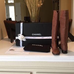 Chanel Ascot riding boots