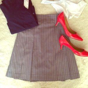 Isaac Mizrahi for Target gray pinstripe skirt