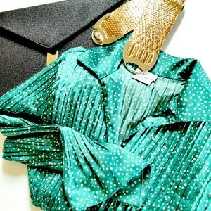 Dotted Green Blouse